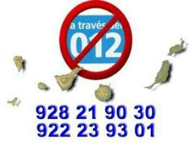 Canarias solidaria c mo llamar al 012 marcando un n mero de tel fono fijo - Como llamar a puerto rico ...
