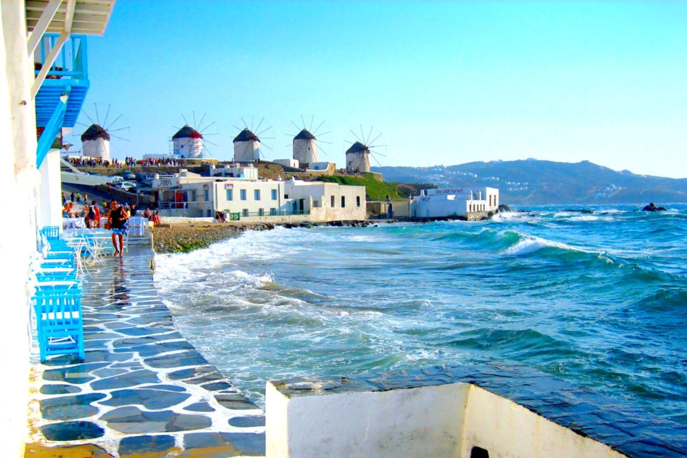 Image result for Island mykonos Greece wallpaper