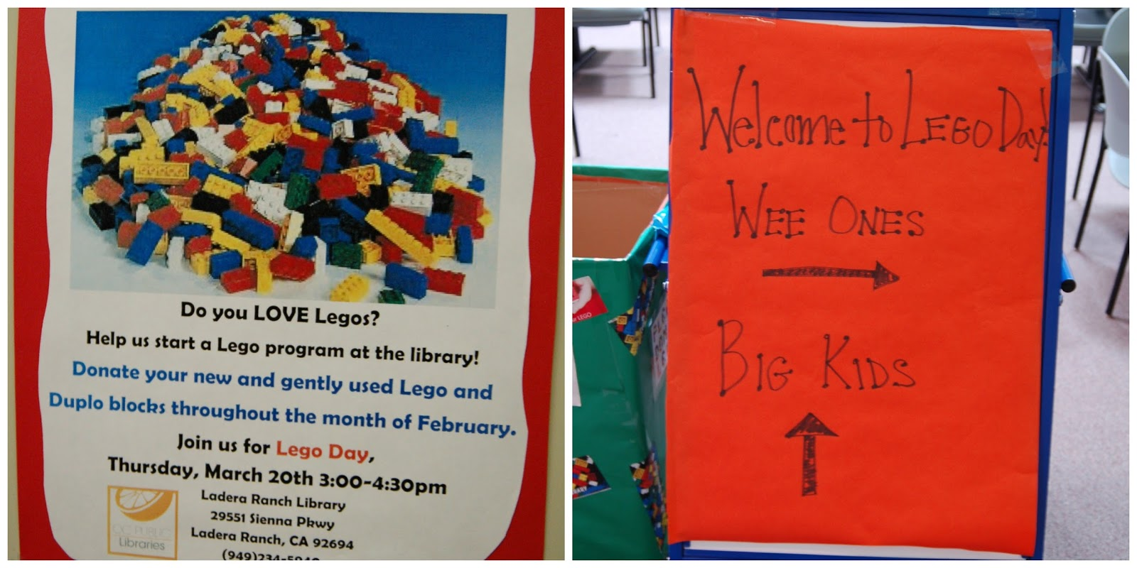 lego day at ladera ranch library
