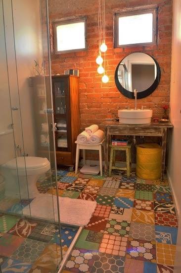 Sua Casa do Seu Jeito Banheiros, lindos, chique, modernos e rústicos -> Banheiro Moderno E Rustico