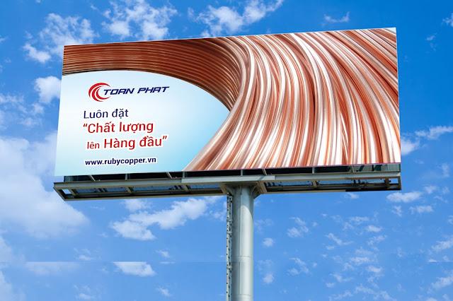 Mẫu biển quảng cáo ngoài trời công ty Toàn Phát