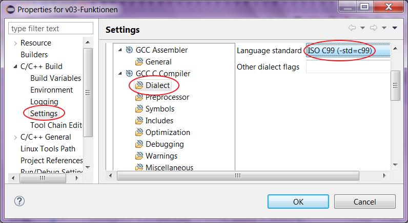 Eclipse C C For Loop Initial Declarations