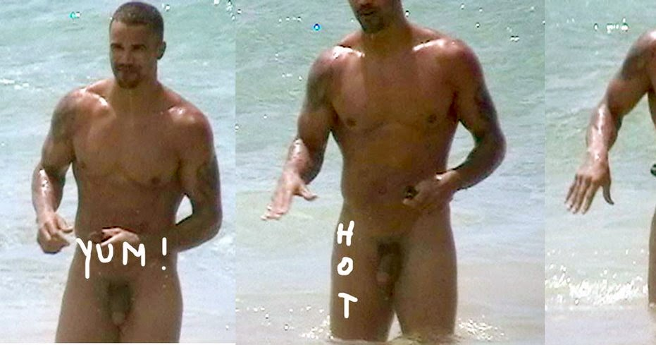 Turns! Shemar moore naked on beach for