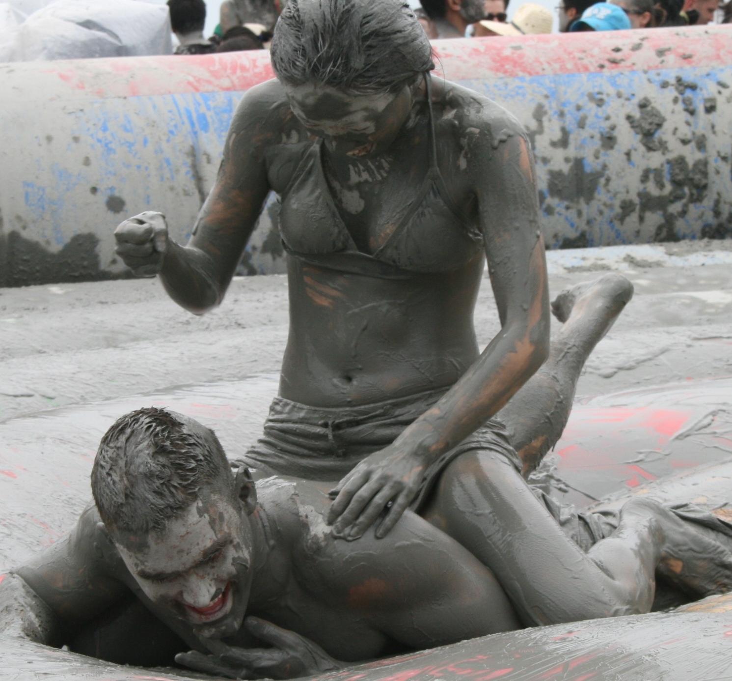 nude boys mud wrestling