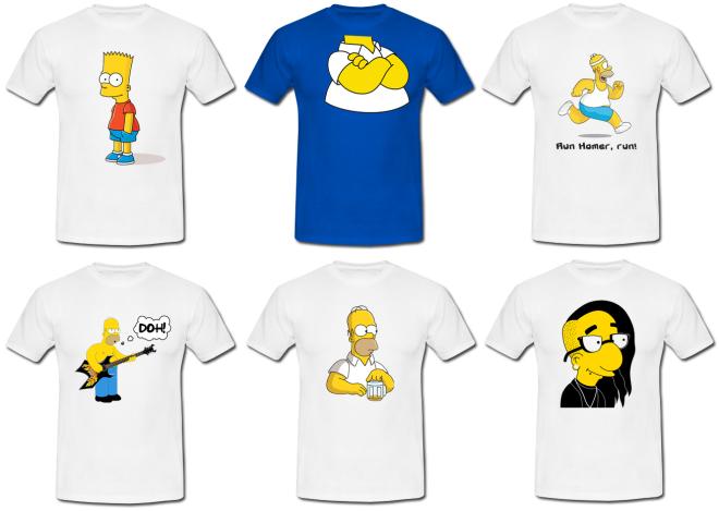 koszulki z Simpsonami