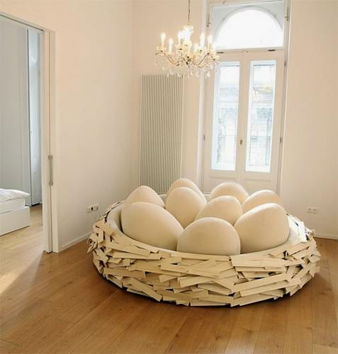 Designing home re working the egg for Egg designs furniture