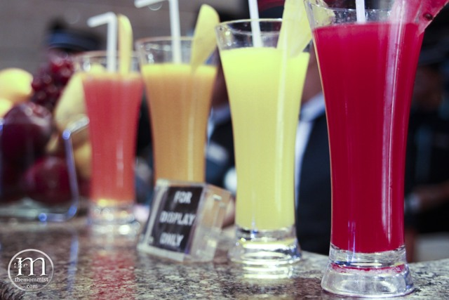 Fresh fruit juice in glasses