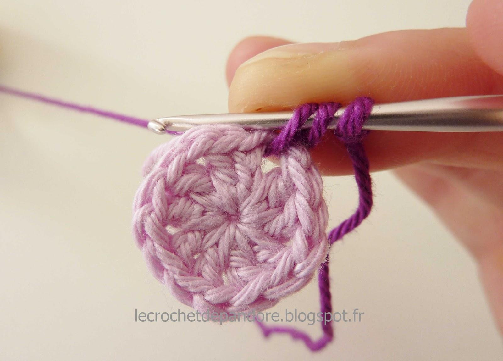 Le Crochet De Pandore Tuto Finitions Changer De Fil Et De Couleur