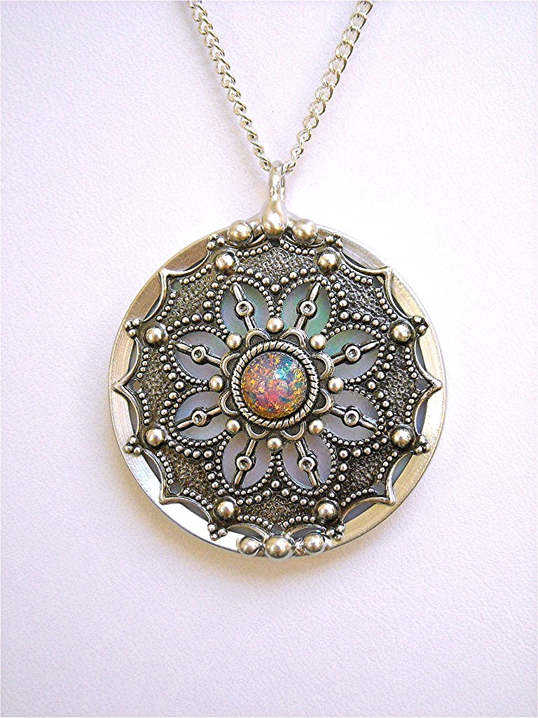 necklace pendant in glass original stained designs jasglassart