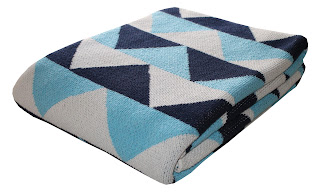 modern geometric triangle cotton eco blanket
