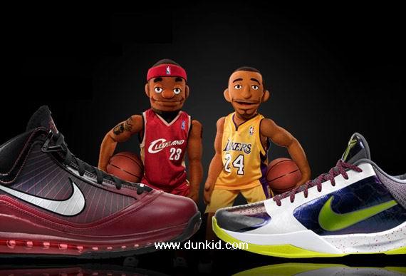 kobe bryant shoes vs lebron james shoes