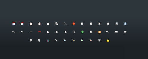 Free Small Social and Web Icons Set