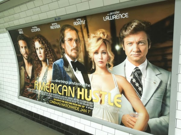 American Hustle London tube poster