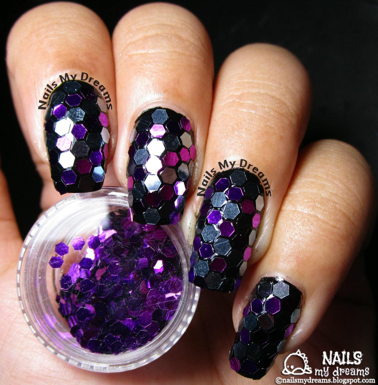 Nails My Dreams Hexagon Glitters Nail Art