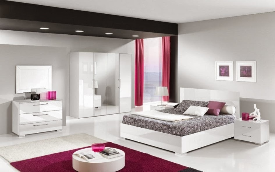 chambre blanc et rose. Black Bedroom Furniture Sets. Home Design Ideas
