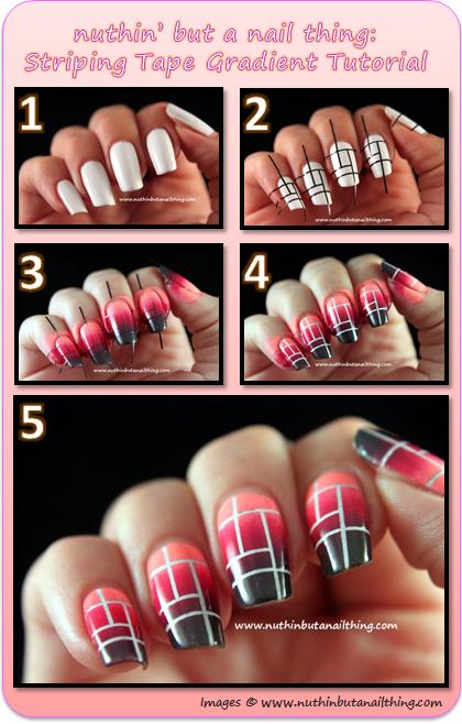 Striping tape gradient tutorial