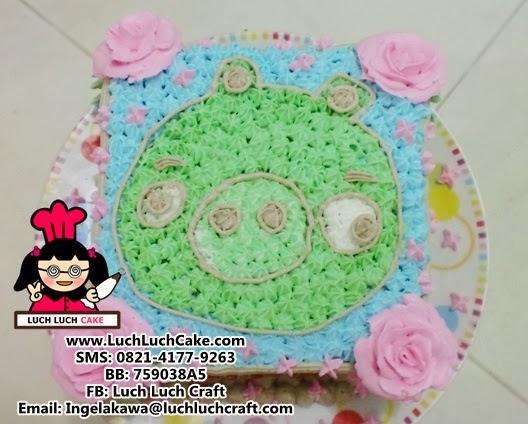 Kue Tart Ulang Tahun angry bird