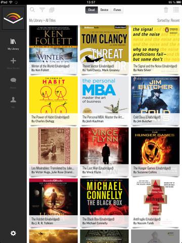 La aplicación de Audible esta disponible para iPad