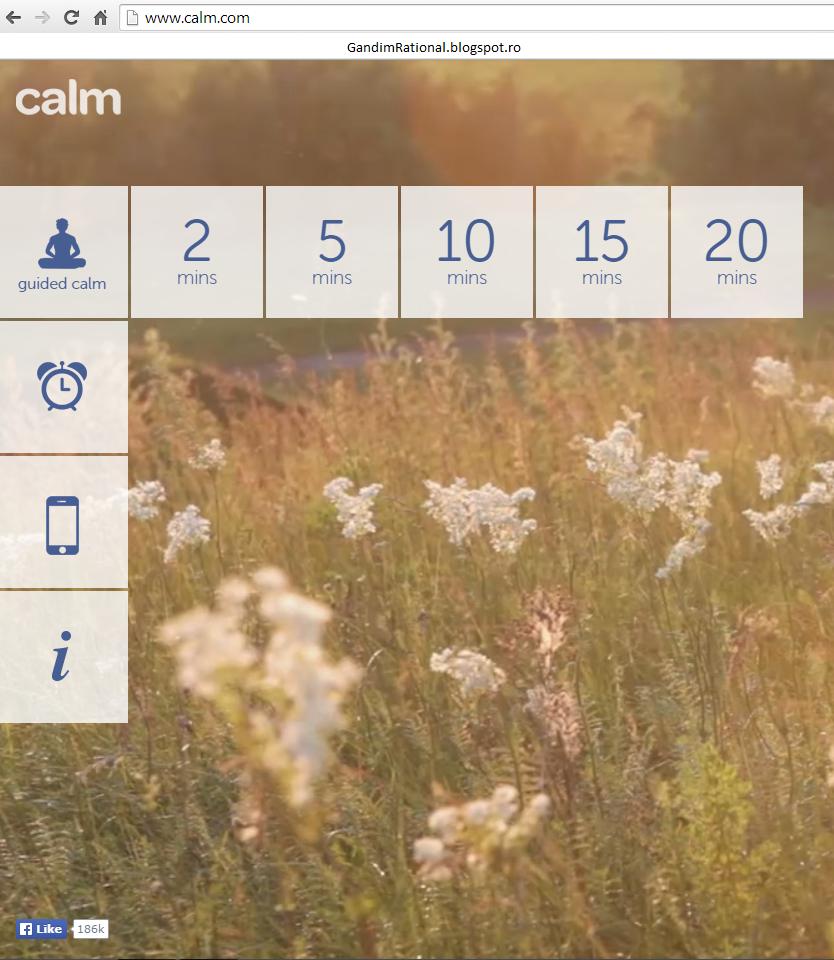 Calm - aplicatia care te ajuta sa te relaxezi