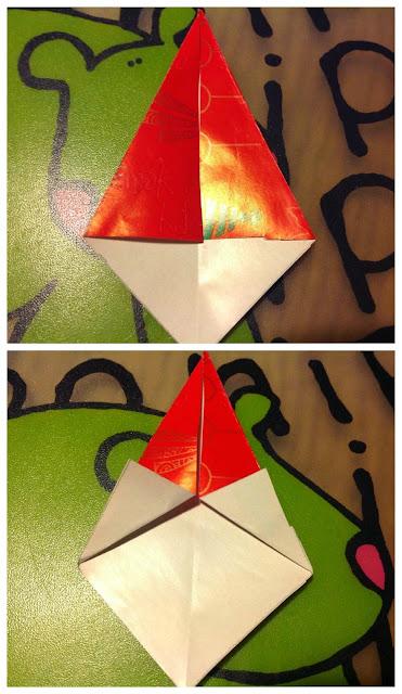 Tutorial Babbo Natale di origami
