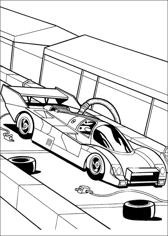 Free coloring pages of para pintar hot wheels for Coches para pintar