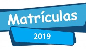 Rematrículas e Matrículas 2019