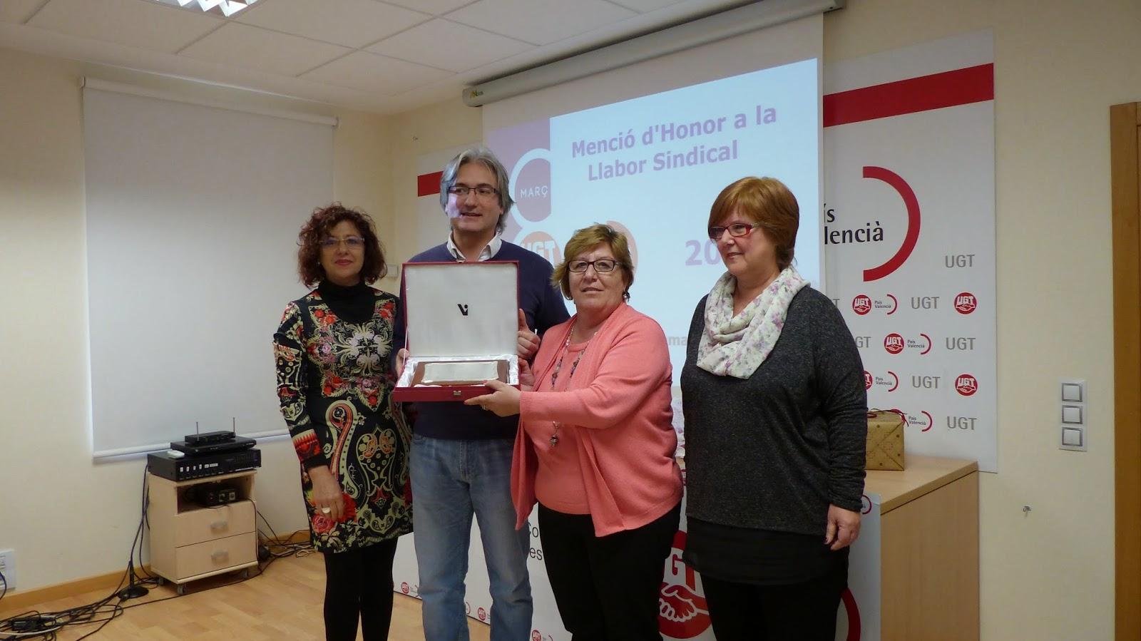 UGT Comarques del Nord entrega la Mención de Honor a la Mujer Trabajadora