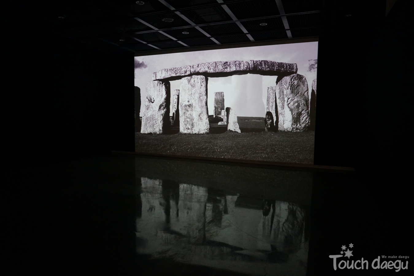 An video work of Lee Tae-hee in the second exhibition room