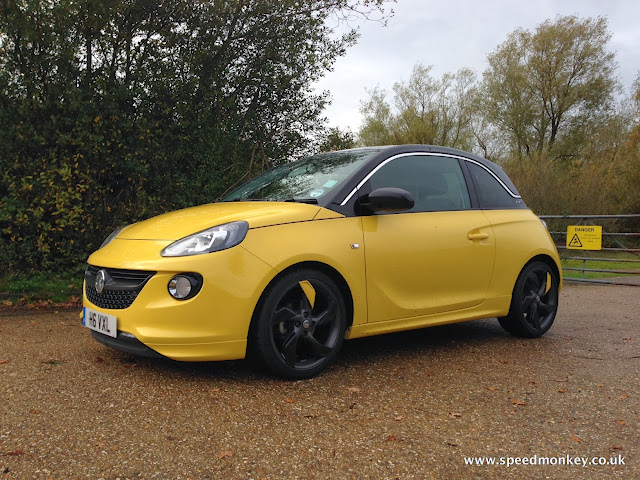 Vauxhall Adam Slam in Flaming Yellow