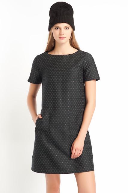 puantiyeli cepli siyah elbise kısa elbise, 2014 elbise modelleri