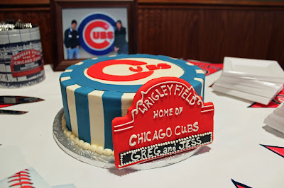 Wrigley Field sign on Groom Cake