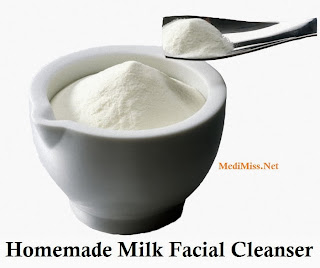 Homemade Milk Facial Cleanser