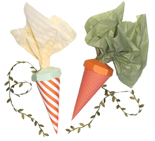 Paper Carrots by Love. Luck. Kisses & Cake  |  LLK-C.com