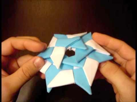 fold origami throwing star