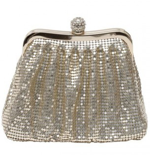bolso malla oro para Nochevieja CL Fashionable
