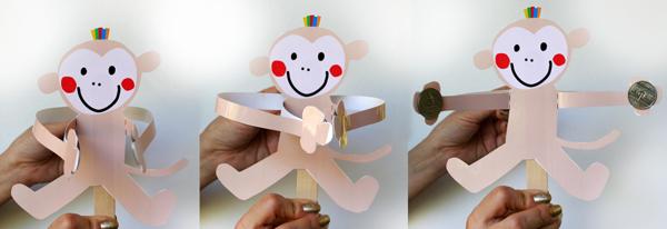 обезьяна из картона своими руками
