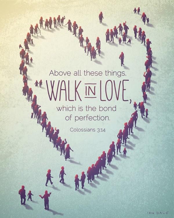 Inspirational Bible art print - Colossians 3:14