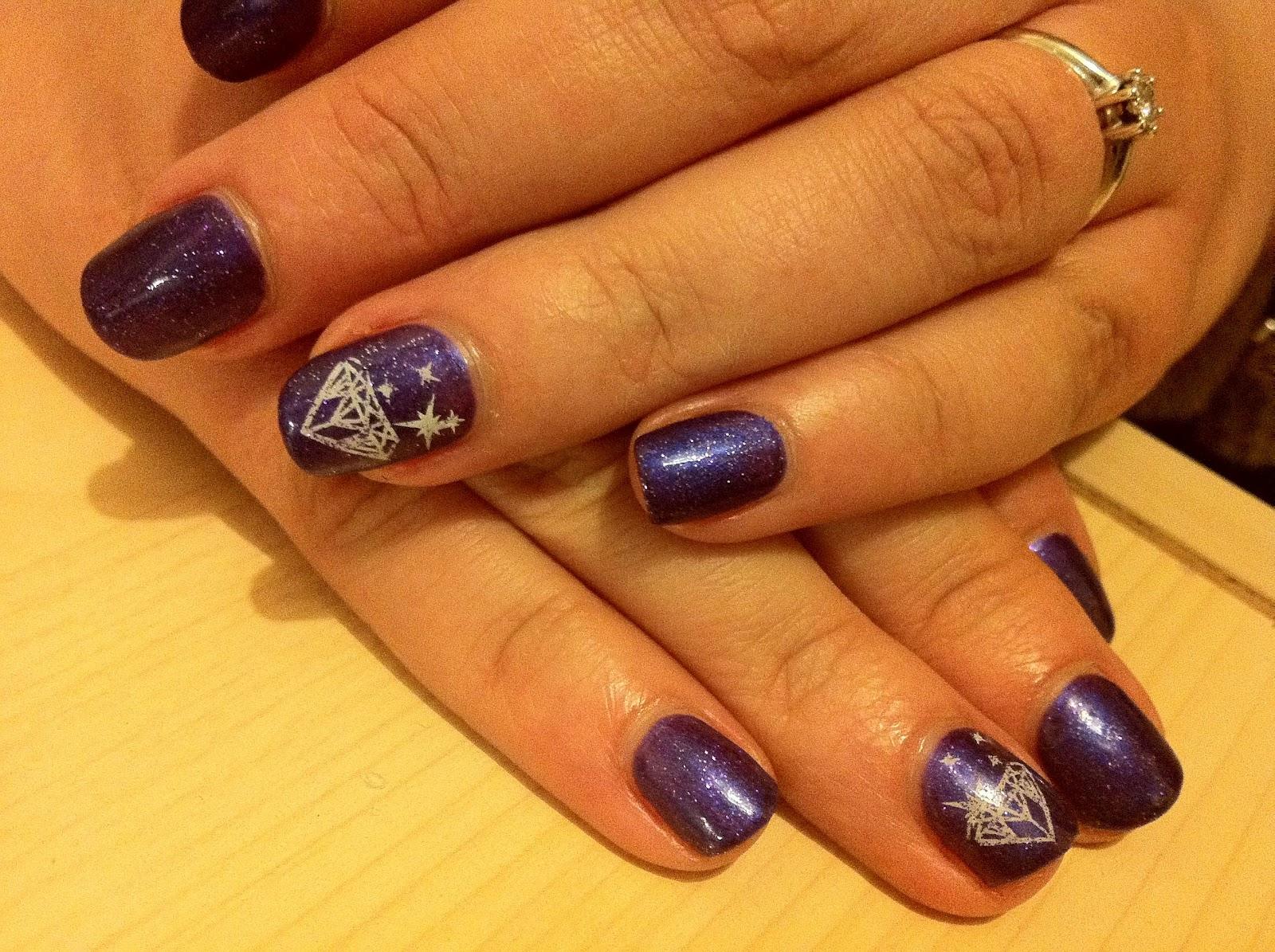 Brush Up And Polish Up Cnd Shellac Nail Art Purple Purple And