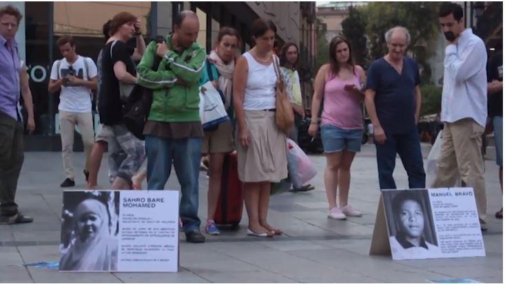 Acció: Passejant la vergonya del CIE, juny 2014