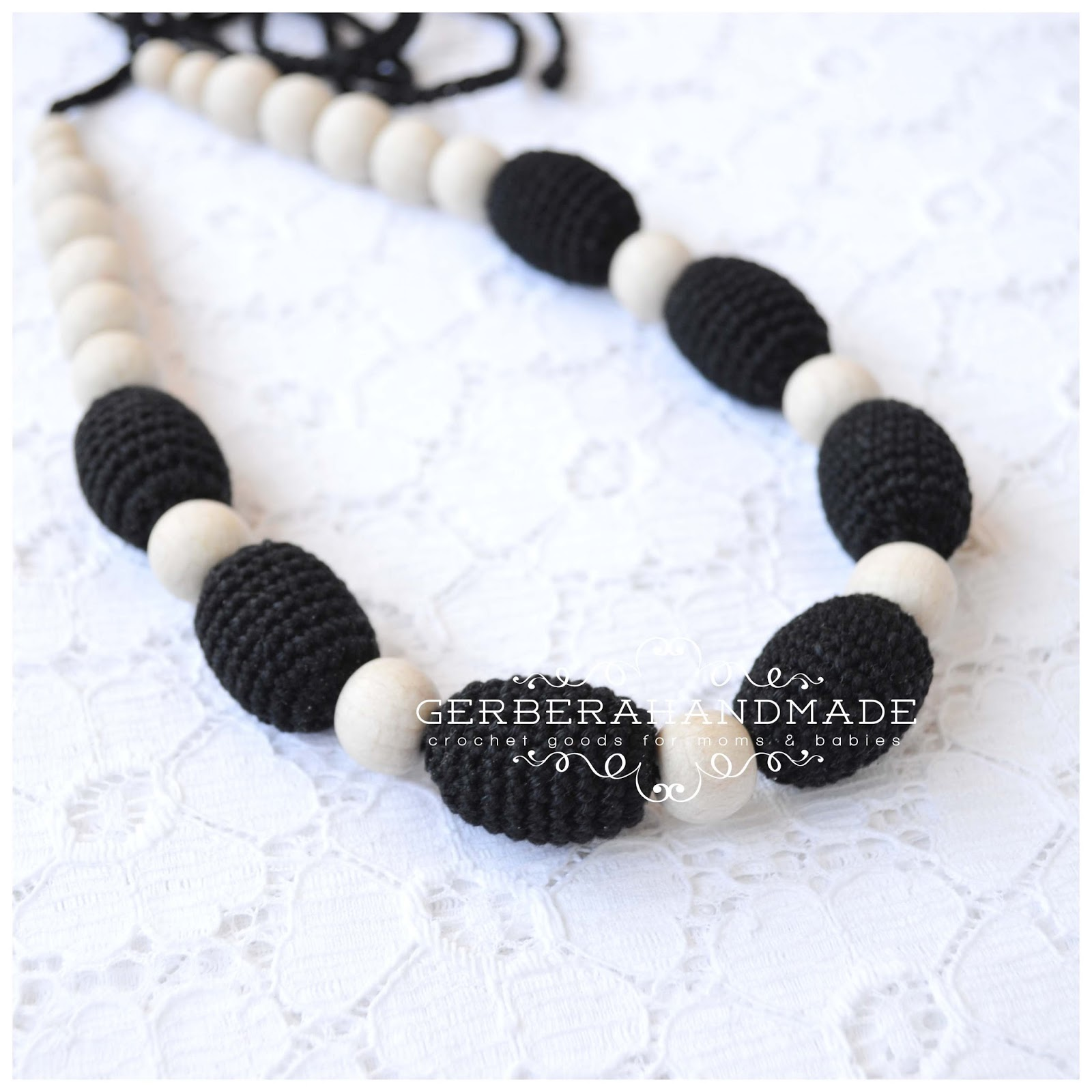 nursing necklace black