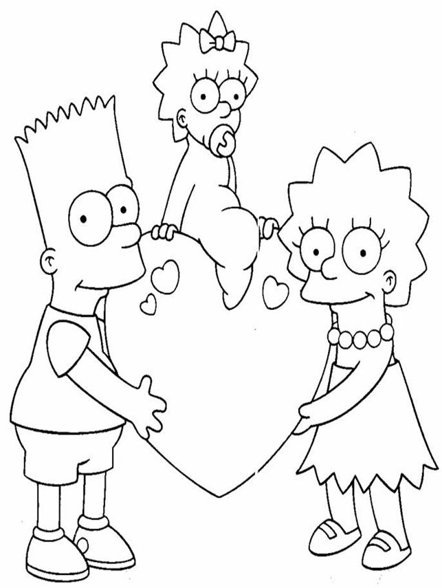 Algopekes dibujos para colorear for Lisa simpson coloring pages