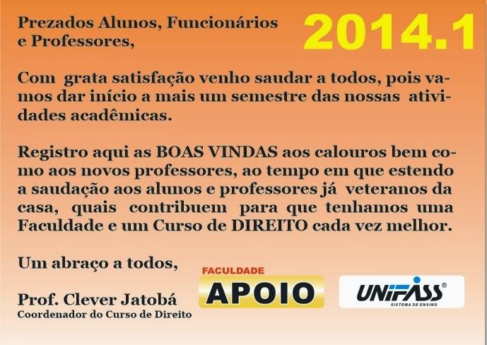 Boas Vindas 2014.1