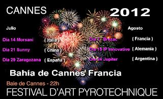 Festival Internacional de Fuegos Artificiales Cannes 2012