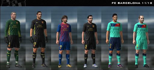 FC Barcelona 11/12 Kit Set by Dark Nero