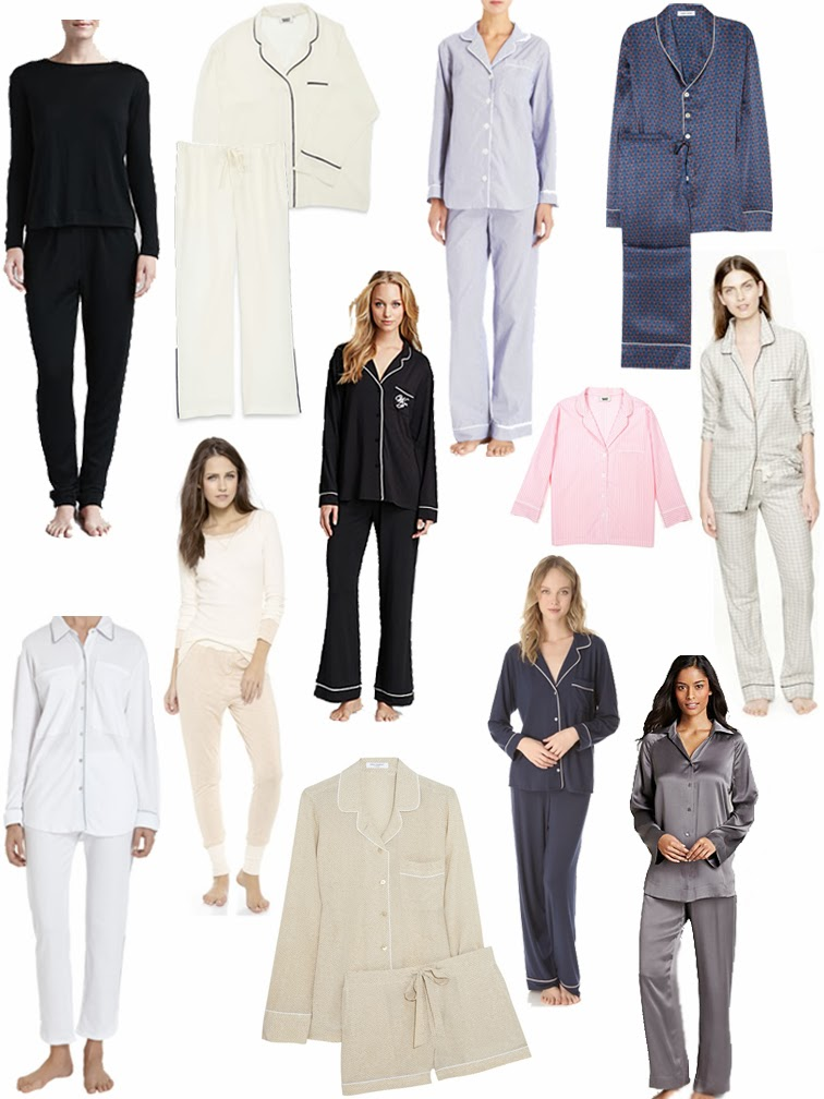 Pajama sets sleepwear Hanro Sleepy Jones Equipment Steven Alan Wildfox Eberjey Lila Alexa Splendid Olivia von Halle J.Crew Donna Karan