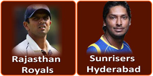 SRH Vs RR is on 17 May 2013.