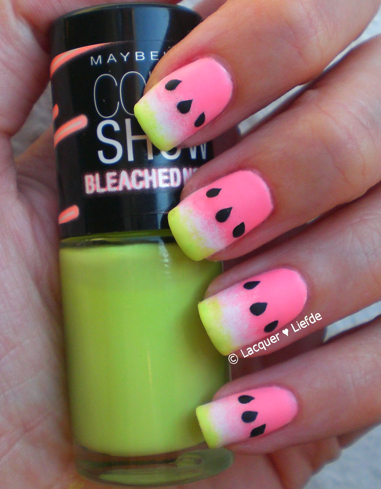 Watermelon gradient with Bleached neons