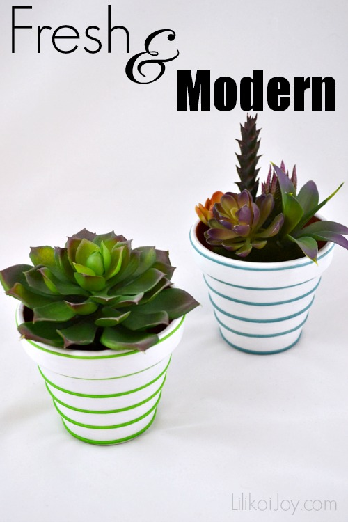 Craft Project: Three Looks with Clay Pots - Fresh and Modern