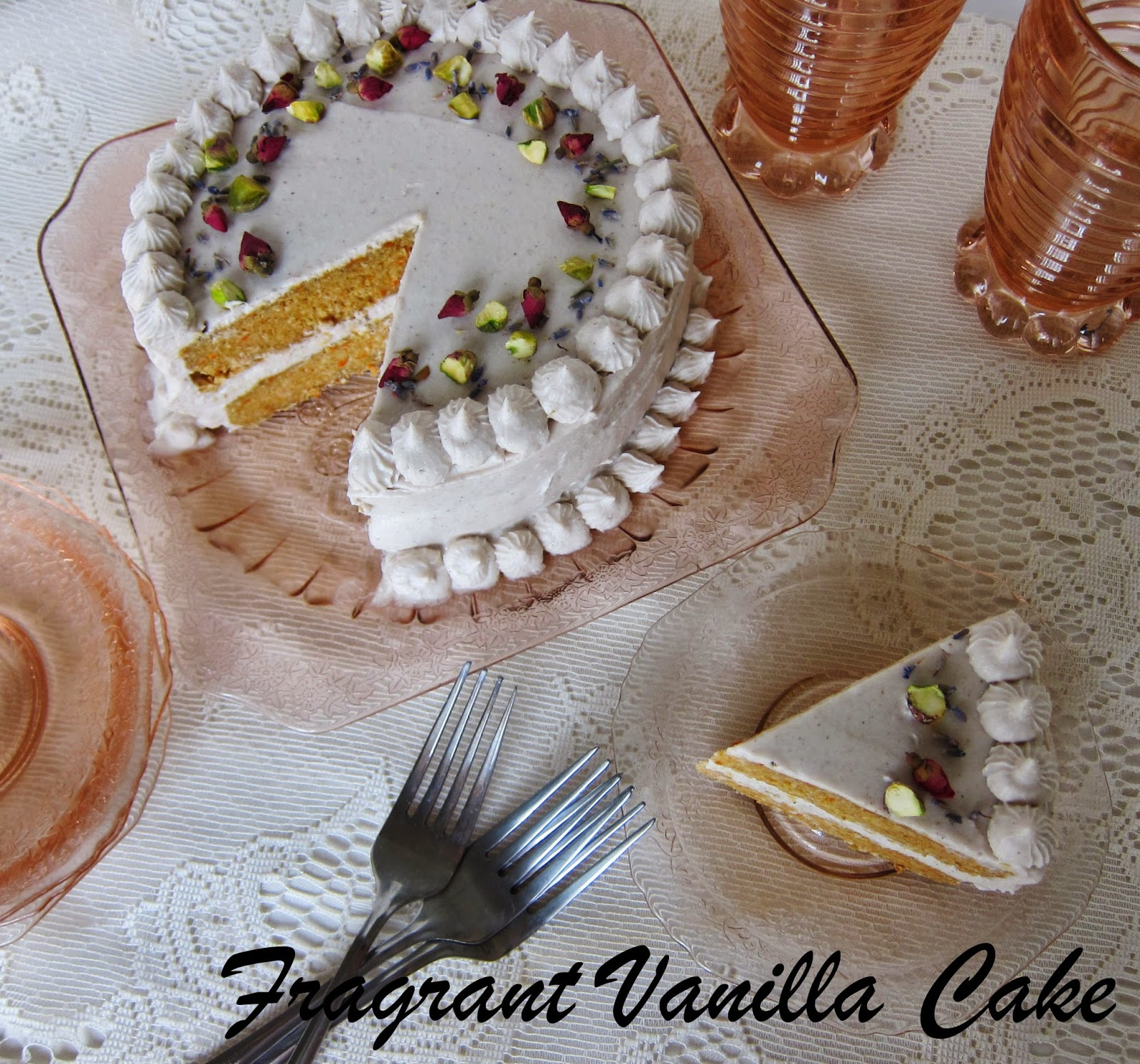 ... Cake: Raw Cardamom Scented Carrot Cake with Rosewater Vanilla Coconut