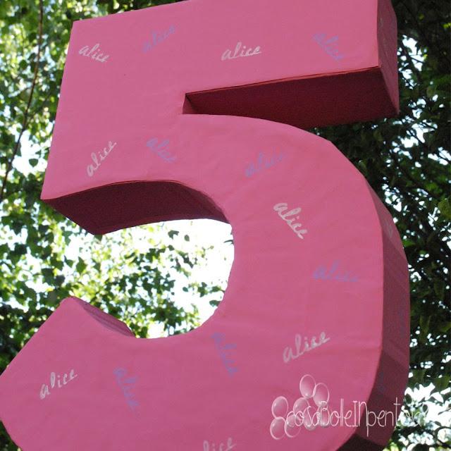 numero 3D per festa compleanno in cartone